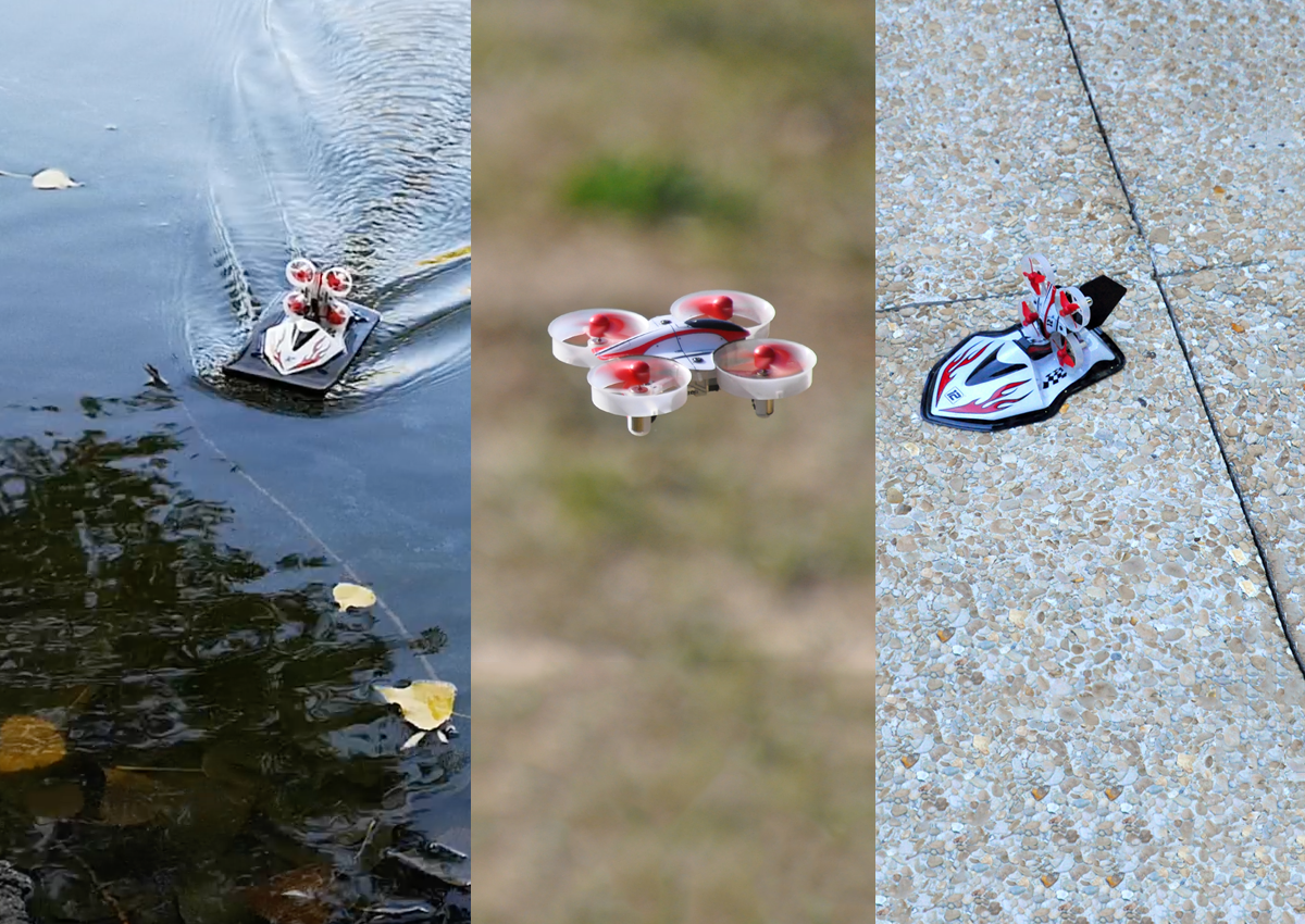 Eachine E015 With Flight Boat Full Review First Amphibian