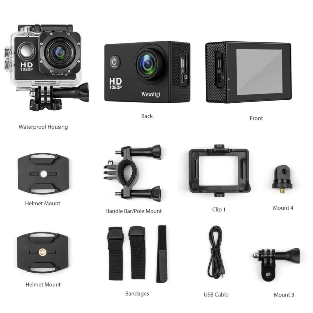 Wewdigi ev5000 action camera